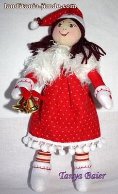 Рождественкий эльф с колокольчиками, кукла, текстильная кукла, новый год