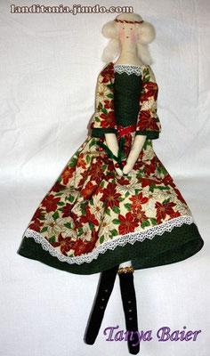 Фея с веткой остролиста, фея Рождества, текстильная кукла, новый год,праздник