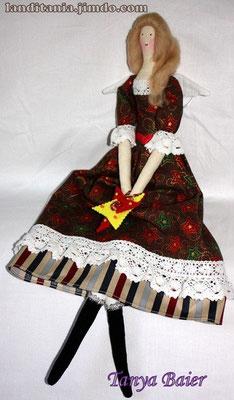 Фея с Рождественской звездой, фея Рождества, текстильная кукла, новый год,праздник
