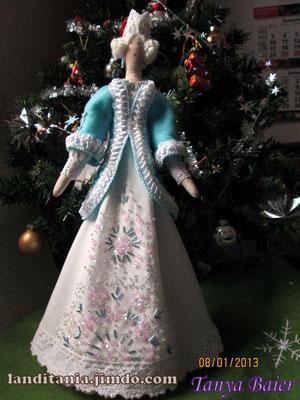 Снежная королева, кукла тряпичная