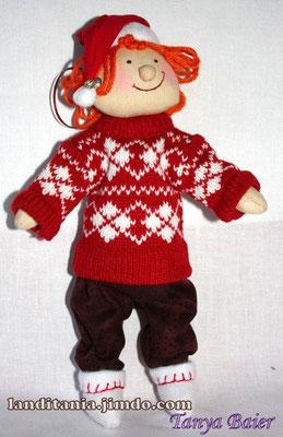 Рождественкий гном, кукла, текстильная кукла, новый год