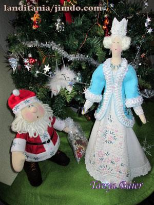 Санта и Снежная Королева, Рождество, кукла