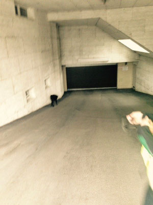 Garage wird inspziert