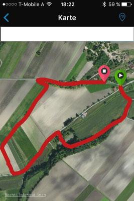 Die Strecke - exakt 2 Kilometer