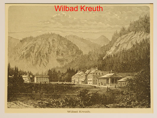 DK 323 - Kreuth ,Wildbad-Hst.um 1880-13x17,5(14x18,5= = 18 EUR