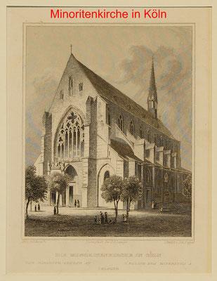 DK 313 - Köln, Minoritenkirche, Sst. Schwartz/Poppel-14x11(23x14,5) = 18 EUR