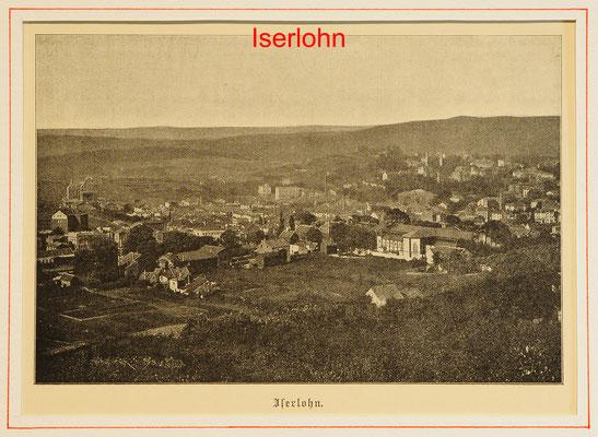 DI 284-A - Iserlohn, Hst. 1872-8,5x10(13x18) = 15 EUR