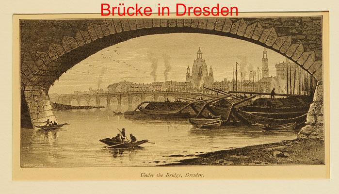 DD 122 - Dresden - Under the bridge - Ansicht der Stadt von der Elbe - Hst. England 1879-9x17(10x22) = 15 EUR