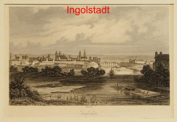 DI 281 - Ingolstadt- Sst.von Plato Ahrens BI 1871, 10,5x15,5(11,5x17,5) = 38 EUR