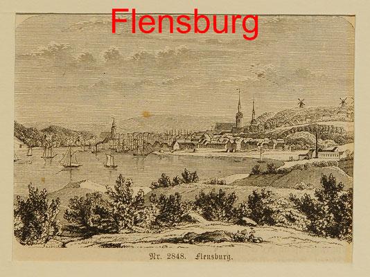 DE 145 - Emden, mit reicher Schiffsstaffage, Sst. B.I. 1847-12x17,5 (15x22,5) = 58 EUR