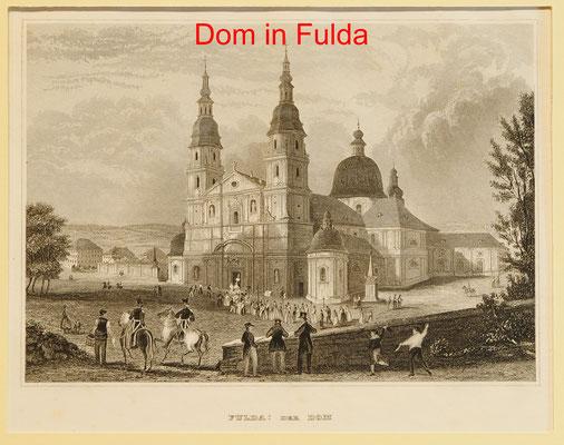 DF 163 - Fulda - Sst. B.I. 1840, 13x16,5 (15x22) = 38 EUR