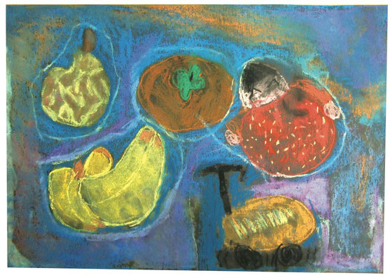 パステル画〜果物〜