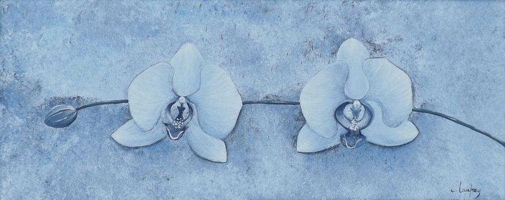 """""""Orchidée d'hiver"""" - acrylique - 20 x 50 cm"""