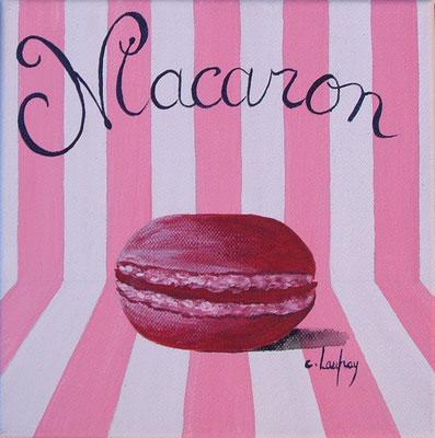 """""""Macaron années 50"""" - acrylique - 20 x 20 cm"""