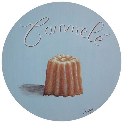 """""""Cannelé"""" - acrylique - diamètre 30 cm"""