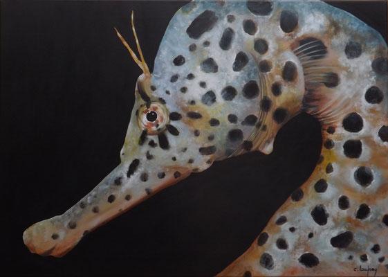 """Hippocampe"" - acrylique - 50 x 70 cm"