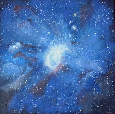 """Petit nuage de Magellan"" - acrylique - 50 x 50 cm"