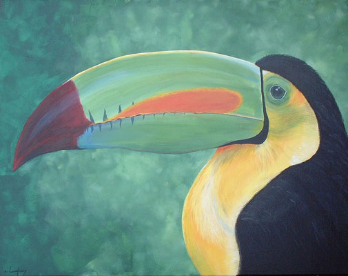 """Le grand toucan"" - acrylique - 50 x 90 cm"