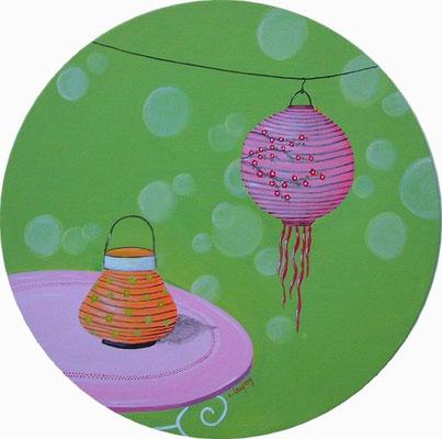 """""""Lampion de jardin"""" - acrylique - Diamètre 30 cm"""