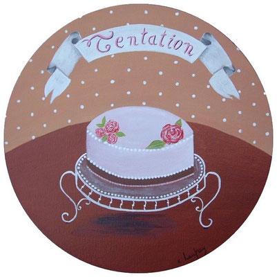 """""""Tentation"""" - acrylique - diamètre 30 cm"""