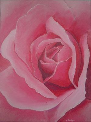 """Rose"" - acrylique - 30 x 40 cm"