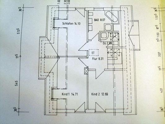 Archiktektur-Visualisierung Neubau Plan Obergeschoss