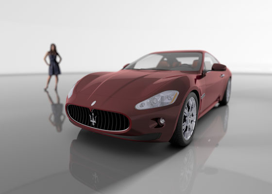 Produktvisualisierung Sportwagen