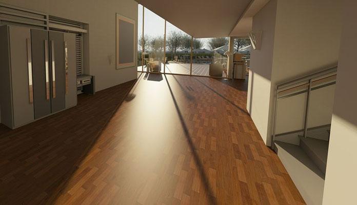 Archiktektur-Visualisierung Neubau Diele