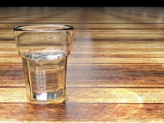 Produktvisualisierung Glas