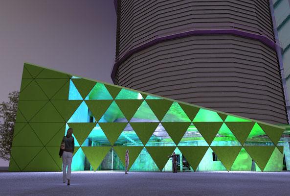 Architekturvisualisierung Anbau Gaskessel Augsburg