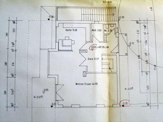 Archiktektur-Visualisierung Neubau Plan Erdgeschoss