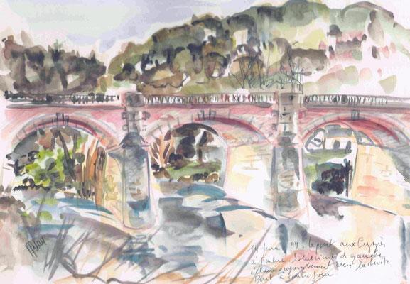 Pont aux Eyzies - (Aquarelle vendue)