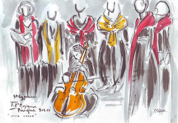 Au concert, Abbatiale de St-Cyprien - réf MU002