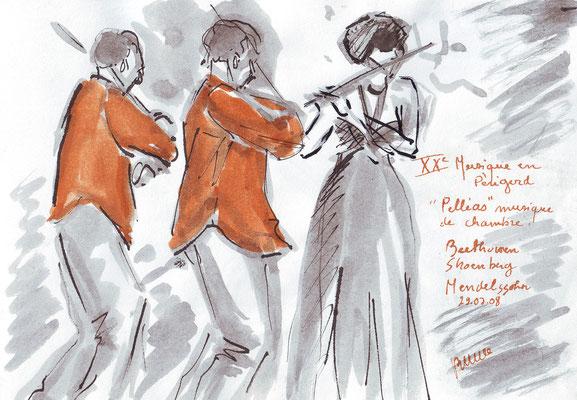 Concert d'été en Dordogne - (carnets) réf MU003 -