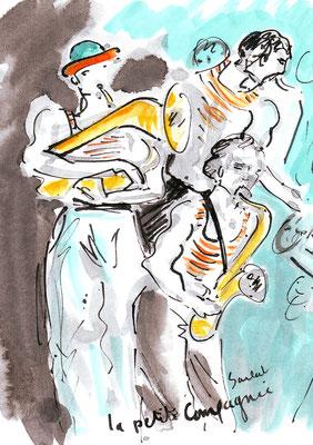 Sarlat, spectacles de rue - réf MU006