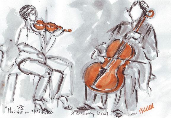 Concert d'été 2 en Dordogne - (dans carnets) -  réf MU004