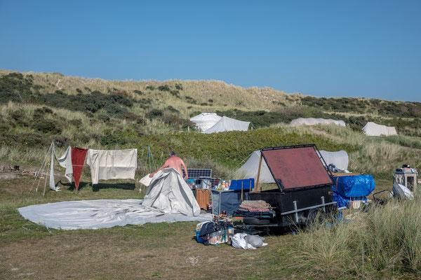 ' Opdoeken' Camping Stortemelk Vlieland
