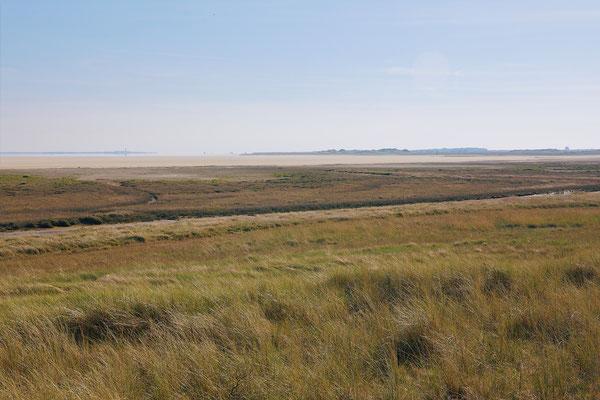 Zicht over het Wad tot Texel en langs de Vliehors Vlieland