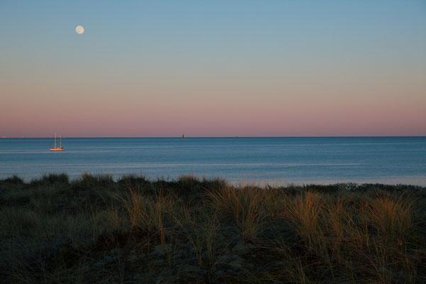 Boot en maanlicht | Wad Vlieland