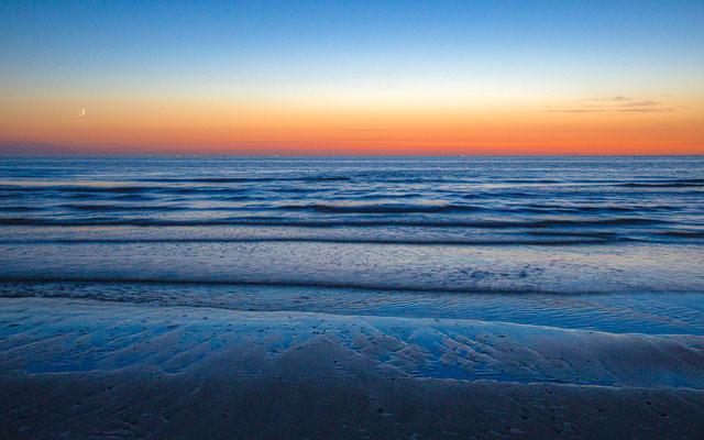 Strand Vlieland by night