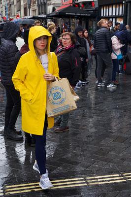 'yellow raincoat is trending'
