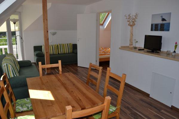 Apartment bis 6 personen mit Balkon