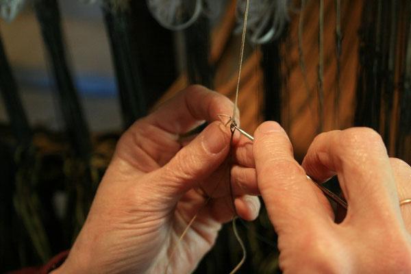 Enlèvement des impureté dans l'anneau de la lisse © Alexis Le Priellec