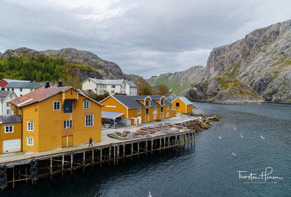 Wie aus archäologischen Funden hervorgeht, wurde das Gebiet des heutigen Ortes Nusfjord schon seit etwa 400 n. Chr. besiedelt.
