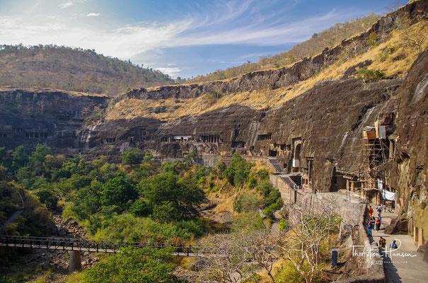 Die seit dem Jahr 1983 zum UNESCO-Weltkulturerbe zählenden Ajanta-Höhlen im Bundesstaat Maharashtra gehören – neben denen von Ellora – zu den meistbesuchten Kulturstätten Indiens.
