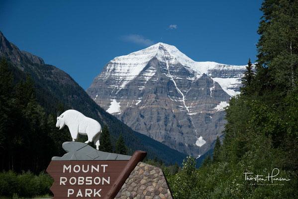 Mount Robson ist mit 3954 m der höchste Berg in den Kanadischen Rocky Mountains