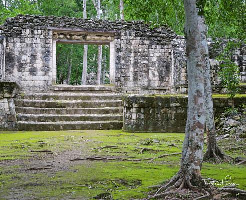Balamkú ist eine eher kleine Ruinenstadt der Maya im Umfeld von Calakmul
