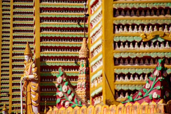 Der ganze Pagoden-Komplex wirkt auf den ersten Blick übertrieben und überfordernd, ein Blick fürs Detail öffnet jedoch die Tür in eine heilige, religiöse Kultur.