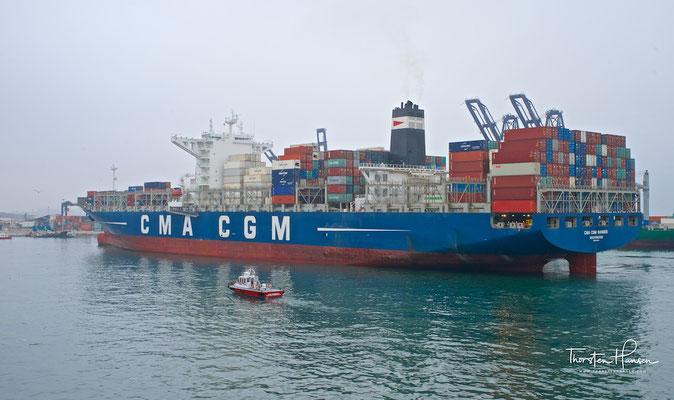 Hafen von San Antonio in Chile