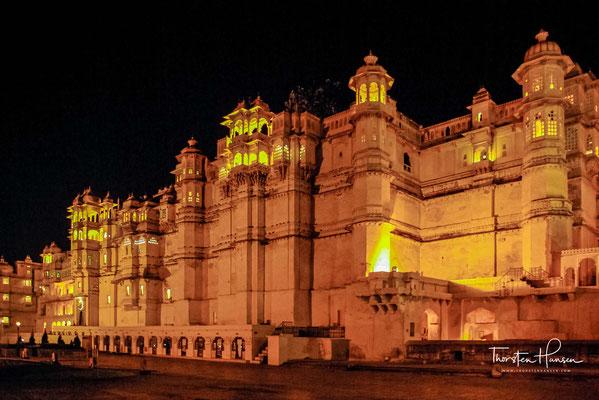 """Der """"Stadt-Palast"""" war die Residenz des Maharana, der immer noch einige Räume nutzt."""